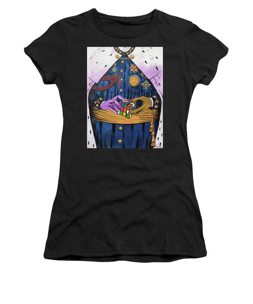 Women's T-Shirt (Athletic Fit) featuring the painting Co-laboring Royalty by Nathan Rhoads