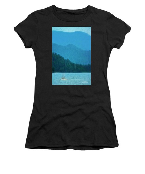 Women's T-Shirt (Athletic Fit) featuring the photograph Coastal Life In Alaska by Mike Braun