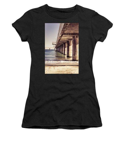 Columns Of Pier In Burgas Women's T-Shirt