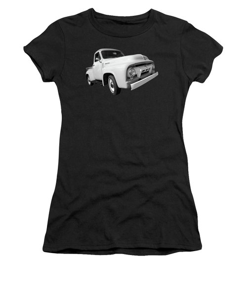 Cool As Ice - 1954 Ford F-100 In Black And White Women's T-Shirt