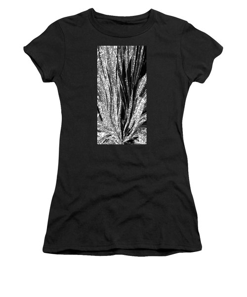 Crystal Floral Black Opposite Women's T-Shirt