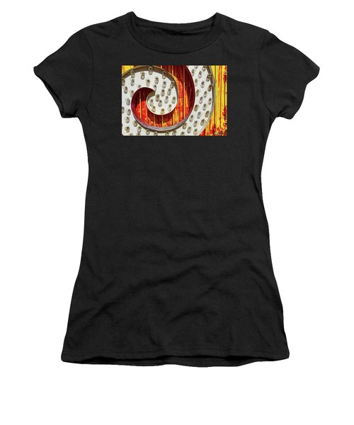 Women's T-Shirt featuring the photograph Curl by Skip Hunt