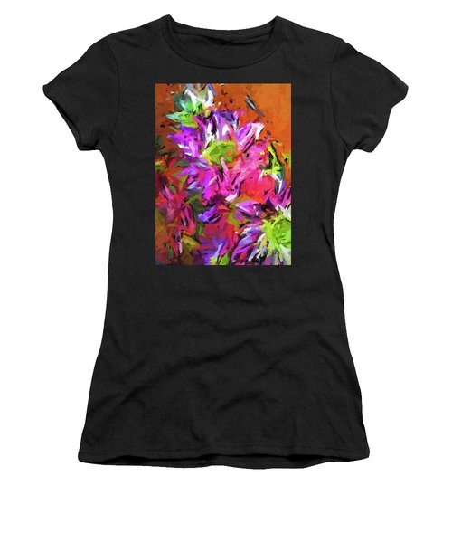 Daisy Rhapsody In Purple And Pink Women's T-Shirt (Athletic Fit)