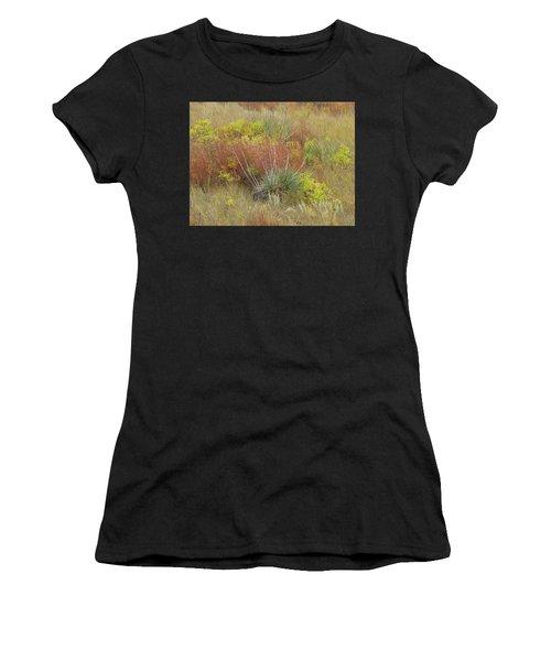 Women's T-Shirt featuring the photograph Dakota Prairie Brocade by Cris Fulton
