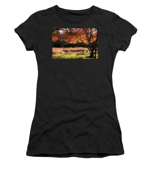 Dawn Lighting Rhode Island Fall Colors Women's T-Shirt