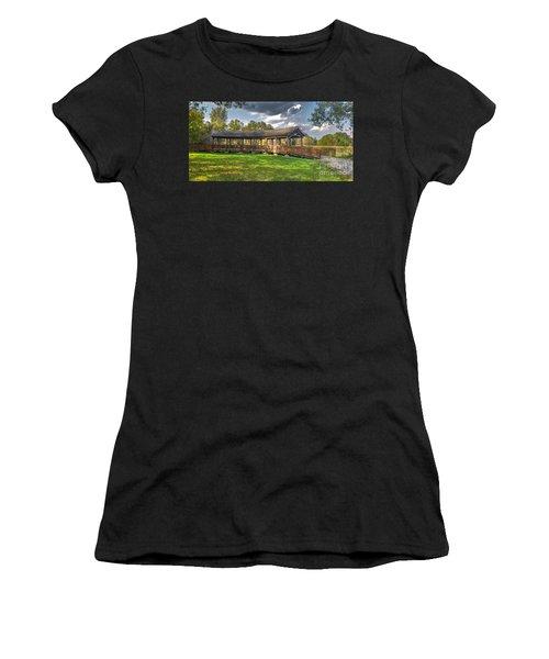 Deck At Pickerington Ponds Women's T-Shirt (Athletic Fit)