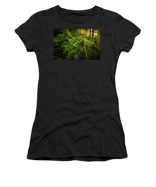 Women's T-Shirt (Athletic Fit) featuring the photograph Deep In The Forests Of Bavaria by David Morefield