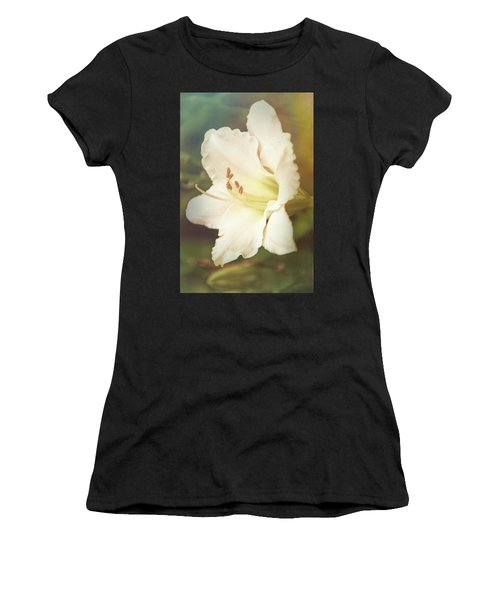 Women's T-Shirt (Athletic Fit) featuring the photograph Dreamy Lily by Leda Robertson