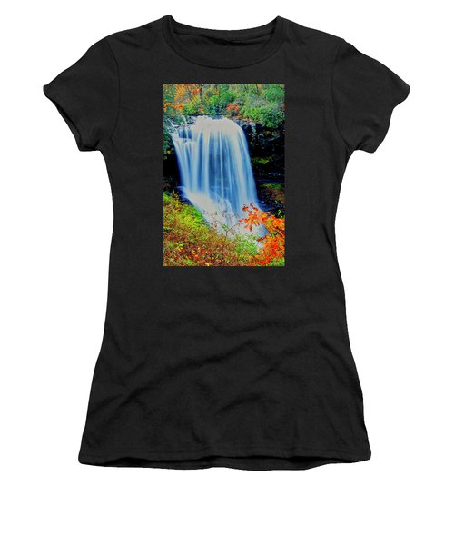 Women's T-Shirt (Athletic Fit) featuring the photograph Dry Falls Front November by Meta Gatschenberger