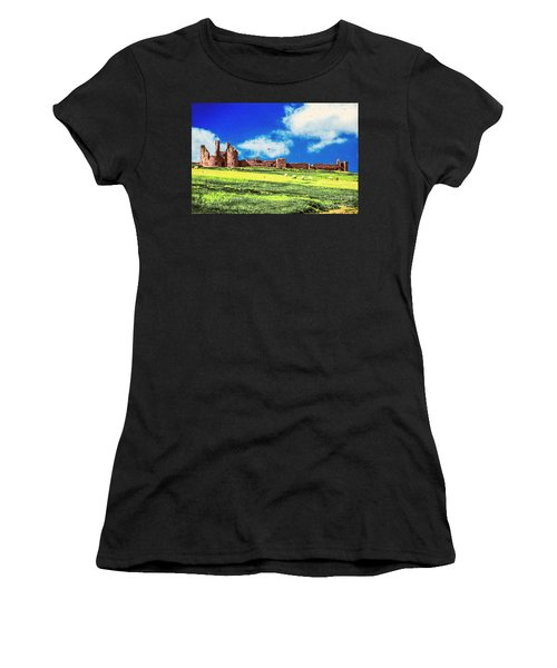 Dunstanburgh Castle In Oil Women's T-Shirt