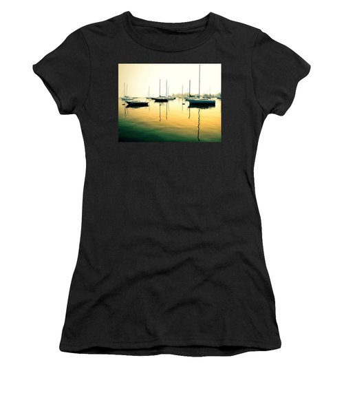 Early Mornings At The Harbour Women's T-Shirt (Athletic Fit)