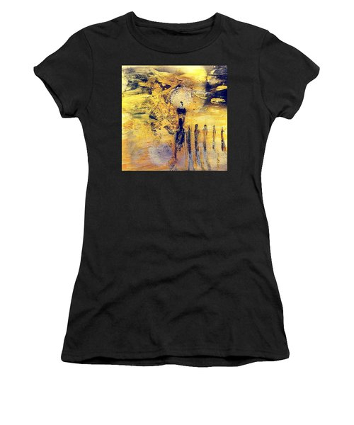 Women's T-Shirt featuring the painting Elaine by 'REA' Gallery