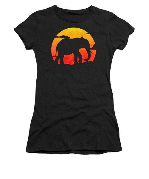 Elephant Sunset Women's T-Shirt