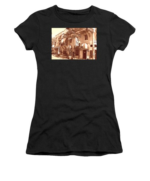 Espanola Way In Miami South Beach Women's T-Shirt