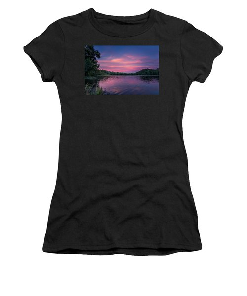 Women's T-Shirt featuring the photograph Evening At Springfield Lake by Allin Sorenson