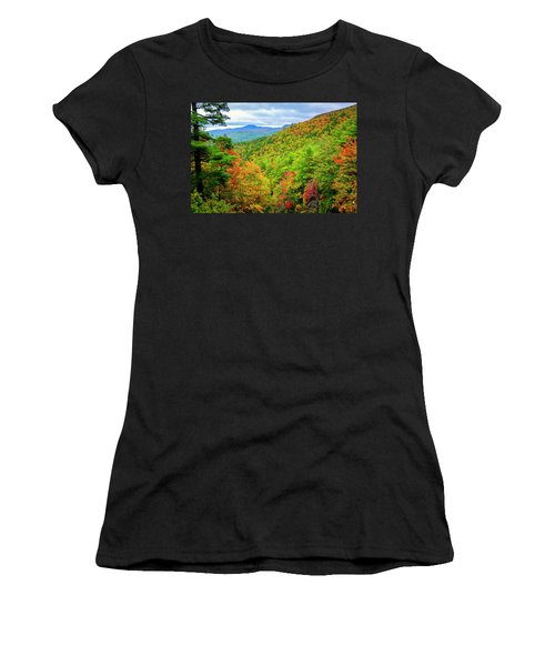 Women's T-Shirt (Athletic Fit) featuring the photograph Fall In The Smokies by Andy Crawford