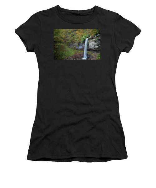 Women's T-Shirt (Athletic Fit) featuring the photograph Falls Of Hills Creek by Russell Pugh