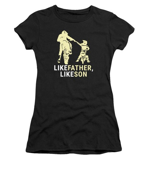 Dirt Biker Riders Motorcycle Bikers Fmx Motocross Father And Son Racers Gifts Women's T-Shirt