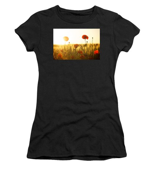 Field Of Poppies At Dawn Women's T-Shirt