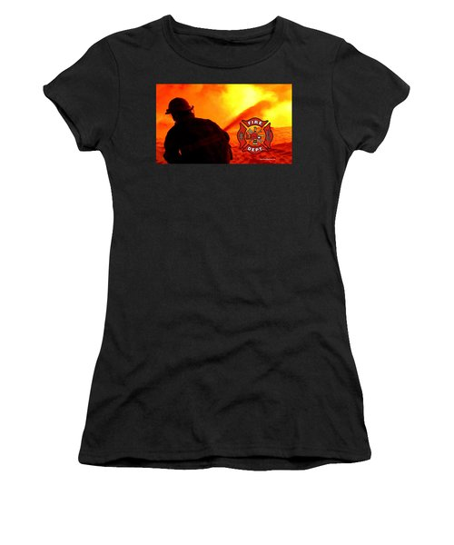 Fire Fighting 6 Women's T-Shirt