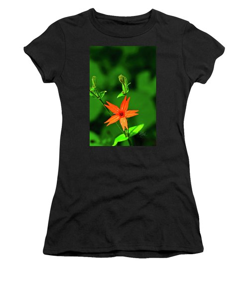 Women's T-Shirt (Athletic Fit) featuring the photograph Fire Pink by Meta Gatschenberger