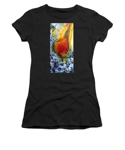 Women's T-Shirt featuring the painting Fireball by 'REA' Gallery