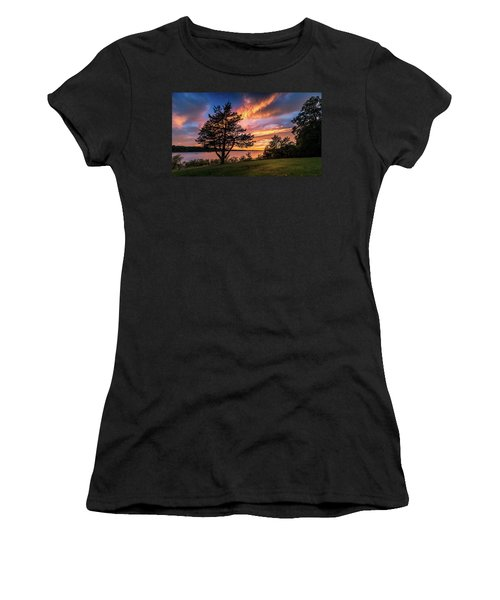Women's T-Shirt featuring the photograph Fishing At End Of Day by Allin Sorenson