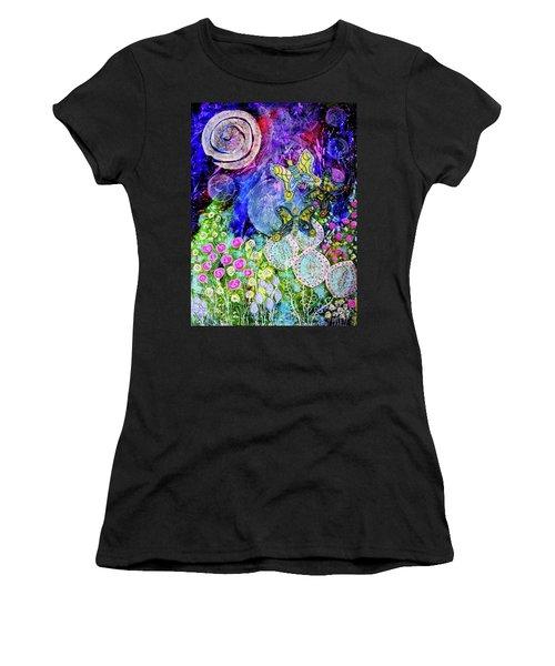 Flight Of The Lunar Moths Women's T-Shirt