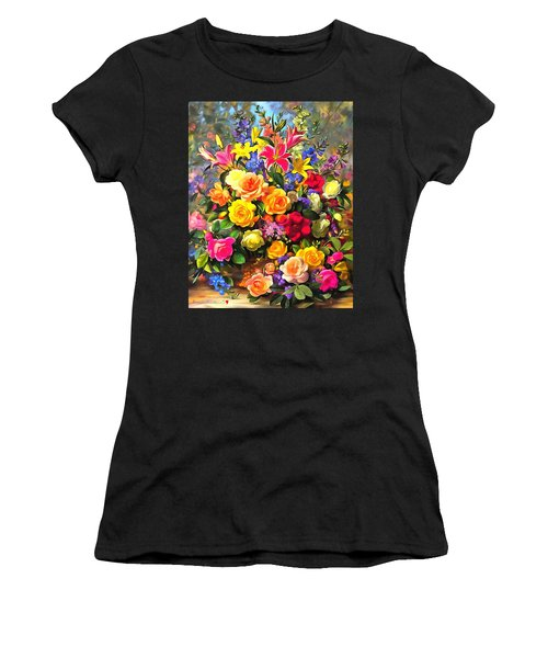 Floral Bouquet In Acrylic Women's T-Shirt