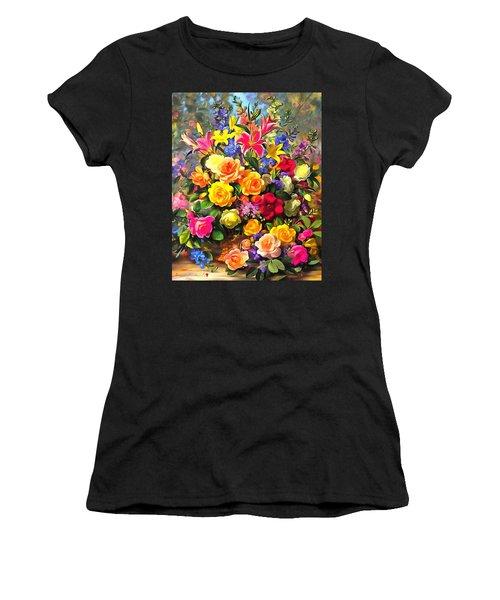 Floral Bouquet In Acrylic Women's T-Shirt