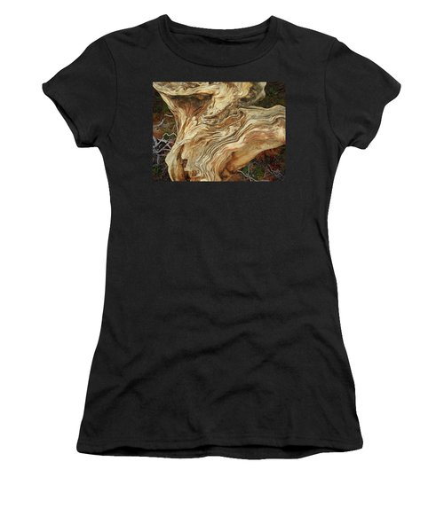 Women's T-Shirt featuring the mixed media Forest Music 2 by Lynda Lehmann
