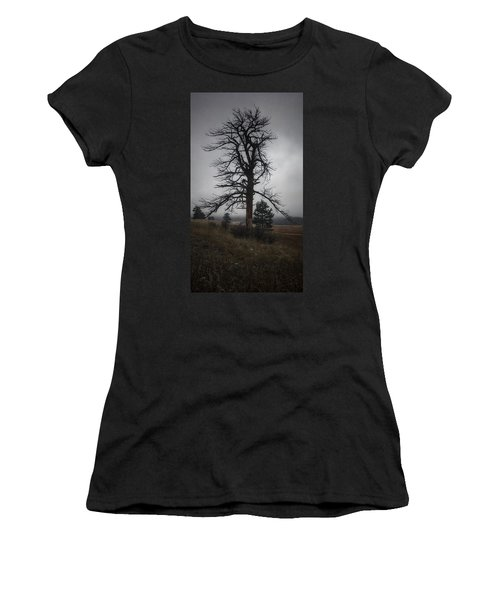 Women's T-Shirt featuring the photograph Ghostly Snag by Dan Miller