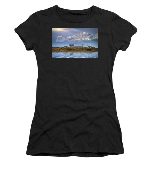 Women's T-Shirt (Athletic Fit) featuring the photograph Goat Island Lighthouse by Rick Berk