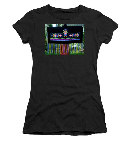 Women's T-Shirt (Athletic Fit) featuring the tapestry - textile Grand Mothers Garden by Chholing Taha