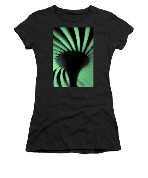 Green Fan Ceiling Women's T-Shirt