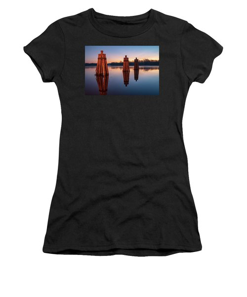 Group Of Three Docking Piles On Connecticut River Women's T-Shirt