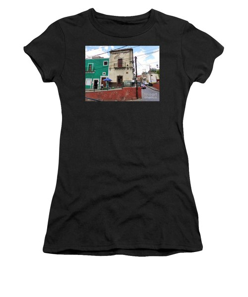 Women's T-Shirt featuring the photograph Guanajuato Street Corner by Rosanne Licciardi