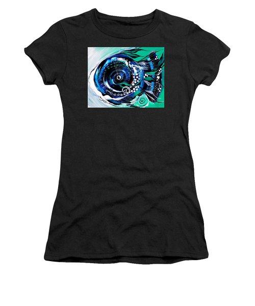 Half-smile, Break The Ice Fish Women's T-Shirt