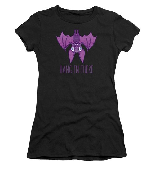 Hang In There Wacky Vampire Bat Women's T-Shirt