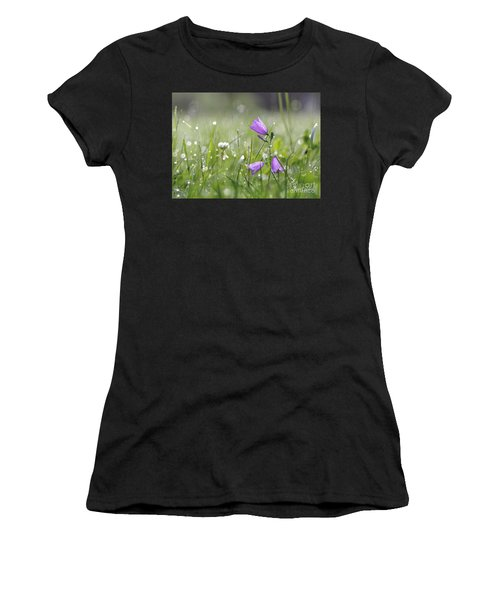 Harebells And Water Drops Women's T-Shirt