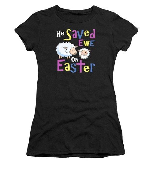 He Save Ewe On Easter Cute Easter Shirts Kids Women's T-Shirt