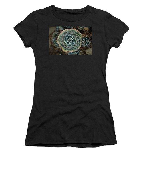 Hen And Chicks Succulent Women's T-Shirt