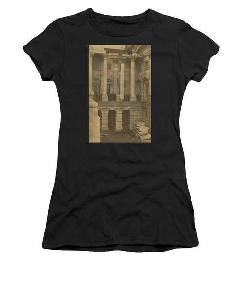 Hoisting Final Marble Column At United States Capitol Women's T-Shirt