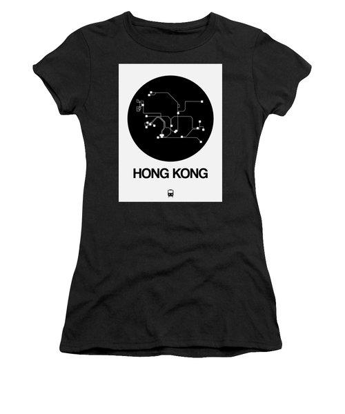 Hong Kong Black Subway Map Women's T-Shirt