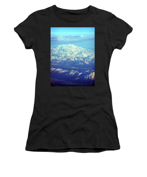 Ice Covered Mountain Top Women's T-Shirt