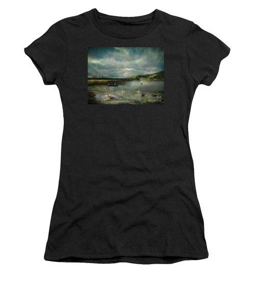 Idyllic Swans Lake Women's T-Shirt