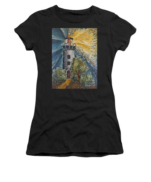 Women's T-Shirt featuring the painting Illumination by Maria Langgle