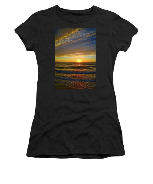 Women's T-Shirt (Athletic Fit) featuring the photograph Incredible Sunrise Over The Atlantic Ocean by Lynn Bauer