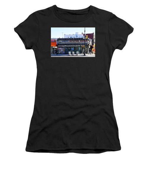 Women's T-Shirt (Athletic Fit) featuring the photograph Inwood Nutrition Center by Cole Thompson