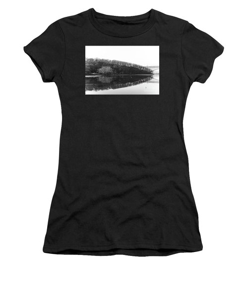 Women's T-Shirt (Athletic Fit) featuring the photograph Inwood Reflections by Cole Thompson